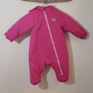 Carhartt pink bunting baby snowsuit